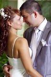 Collega e ragazza romantici ed amorosi sulla cerimonia nuziale Immagine Stock Libera da Diritti
