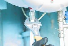 Collega i montaggi dell'impianto idraulico Fotografia Stock
