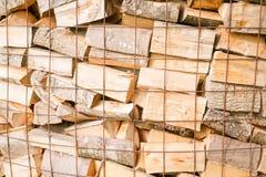 Collega un'iarda di legname Fotografie Stock Libere da Diritti