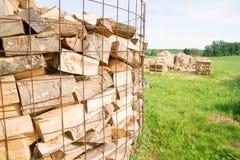 Collega un'iarda di legname Fotografia Stock Libera da Diritti