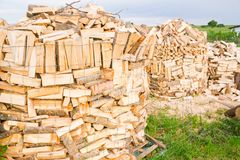 Collega un'iarda di legname Immagine Stock
