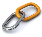 Collegamenti Chain 3d Fotografia Stock