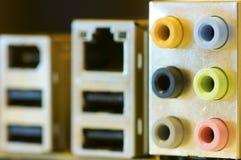 Collegamenti del calcolatore Fotografie Stock
