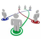 Collegamenti di associazione - collegamenti personali illustrazione di stock