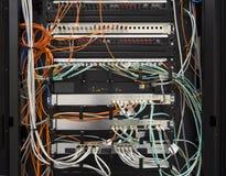 Collegamenti di centro dati Immagine Stock