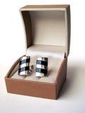 Collegamenti di polsino d'argento Fotografia Stock Libera da Diritti