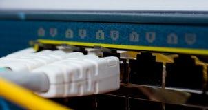 Collegamenti di rete del router immagine stock