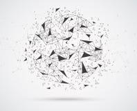 Collegamenti di rete globale con i punti e le linee illustrazione di stock