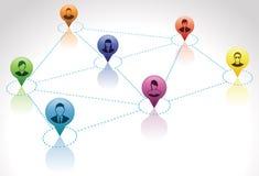 Collegamenti di rete sociali Illustrazione Vettoriale