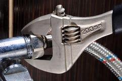 Collegamenti domestici dell'impianto idraulico Idraulico Installation Hoses immagini stock libere da diritti