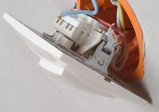Collegamenti domestici dell'installazione Fotografie Stock