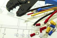 Collegamenti elettrici fotografie stock