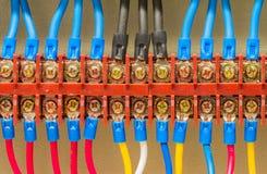 Collegamenti elettrici del primo piano Fotografie Stock