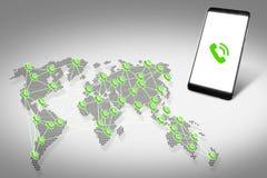 Collegamenti globali Comunicazioni in tutto il mondo Fotografia Stock Libera da Diritti