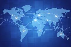 Collegamenti a Internet del mondo Immagini Stock