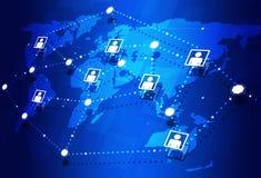 Collegamenti a Internet globali Fotografia Stock