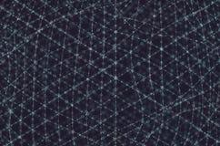 Collegamenti molecolari della struttura della cellula organica fotografia stock