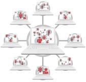 Collegamenti personali - tecnologie informatiche Immagine Stock