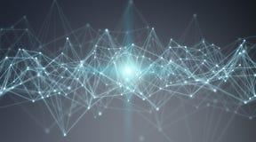 Collegamenti sistema e rappresentazione di scambi di dati 3D Immagine Stock