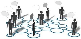Collegamenti sociali di media della rete di colloquio della gente Immagini Stock Libere da Diritti