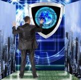 Collegamento. Cybersecurity fotografia stock