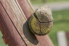 Collegamento degli elementi di legno Immagine Stock Libera da Diritti