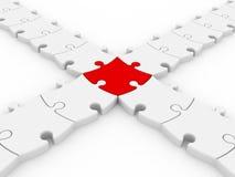 collegamento dei puzzle 3D Immagini Stock