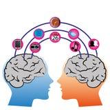 Collegamento del cervello illustrazione vettoriale
