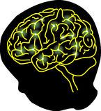 Collegamento del cervello Fotografia Stock