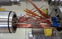 Collegamento del magnete di LHC immagine stock