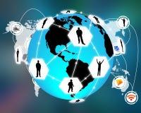 Collegamento del mondo Immagine Stock