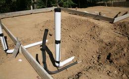 Collegamento del tubo e dell'acqua del condotto dell'impianto idraulico immagini stock libere da diritti