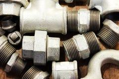 Collegamento dell'impianto idraulico Immagini Stock