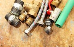 Collegamento dell'impianto idraulico Fotografia Stock