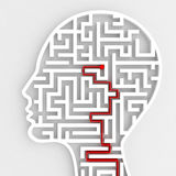Collegamento dell'input del cervello rappresentazione 3d Immagini Stock