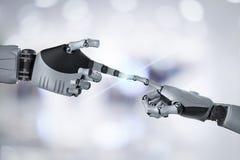 Collegamento della mano del robot illustrazione di stock