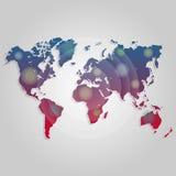 Collegamento della mappa di mondo di vettore Modello per il sito Web, progettazione, copertura, rapporti annuali, infographics di illustrazione di stock