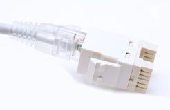 Collegamento di Ethernet Immagini Stock