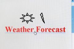 Collegamento di Internet di bollettino meteorologico Fotografie Stock