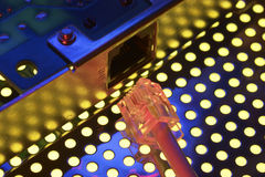 Collegamento di modem immagini stock libere da diritti