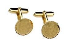 Collegamento di polsino dell'oro Immagini Stock