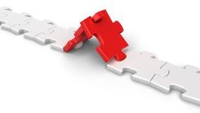 Collegamento di puzzle Immagini Stock