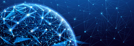 Collegamento di rete globale Immagini Stock Libere da Diritti