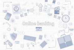 Collegamento di rete internet di Media Communication del sociale sopra la città illustrazione di stock