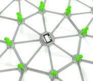 collegamento di rete sociale 3d, concetto del Internet Immagini Stock Libere da Diritti