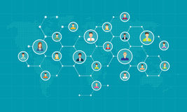 Collegamento di rete sociale per il fondo online di affari illustrazione vettoriale