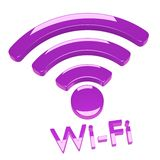 Collegamento di Wi-Fi di Internet Fotografia Stock Libera da Diritti