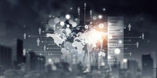 Collegamento ed interazione globali Media misti Fotografie Stock