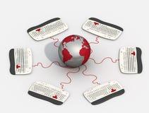 Collegamento globale Immagine Stock