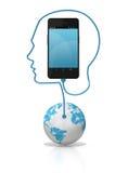 Collegamento globale del telefono astuto Immagine Stock Libera da Diritti